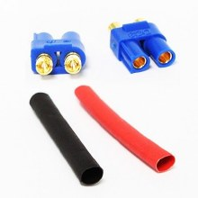 DC3 Male Connector 2pcs w/ Heat Shrink