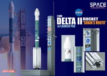 "1:400 Scale Delta II Rocket ""Shark's Mouth"" w/Launch Pad - DW56334"