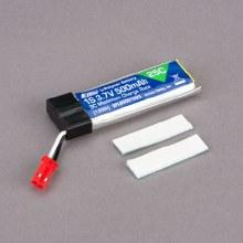 500mAh 1S 3.7V 25C LiPo Battery - EFLB5001S25