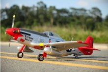 1400mm North American P-51D Red Tail (Ver.8) PNP -FMS008P-RT