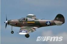 P-39 Cobra II Hells Bells 980mm Camo PNP - FMS080P