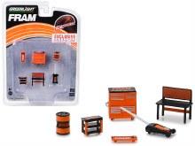 "1:64 Scale 6 Piece Set Shop Tools ""FRAM Oil Filters"" - 13173"