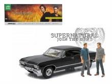"1:18 Scale 1967 Chevrolet Impala Sport Sedan w/Sam & Dean Figures ""Supernatural"" - 19021"