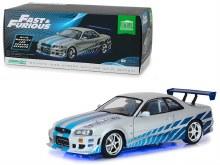 1:18 Scale Fast & Furious 1999 Nissan Skyline GT-R Blue Neon w/LED Lights - 19041