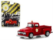 "1:64 Scale 1954 Ford F-100 Pickup Red ""Public Works"" Arlington Heights, Illinois - GL30031"