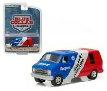 1:64 Scale 1976 Dodge Van Mopar Delivery Blue - 35040-C