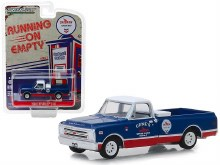 "1:64 Scale 1968 Chevrolet C-10 ""Chevron"" Pickup Truck Blue & Red w/White Top - 41070-C"