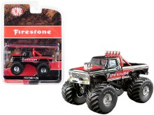 "1:64 Scale 1974 Ford F-250 Monster Truck ""Firestone"" Black & Red - GL51272"