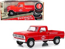 "1:24 Scale 1971 Ford F-100 Pickup Red ""Firestone Tire Service"" - 85043"