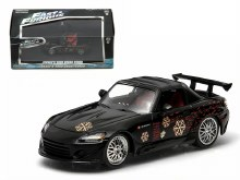 """1:43 Scale Johnny's 2000 Honda S2000 Black """"The Fast and The Furious"""" - 86205"""