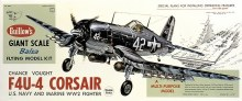 1:16 Scale Republic F4U-4 Corsair Balsa Kit - 1004