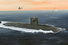 1:350 Scale French Navy Le Triomphant SSBN - HB83519