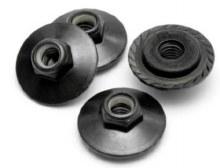 HPI Racing Flanged Lock Nut M5x8mm Black - Z680