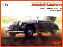1:35 Scale Admiral Cabriolet WWII German Staff Car w/Figures - ICM35471