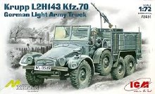 1:72 Scale Krupp L2H143 Kfz.70 German Light Army Truck - 72451