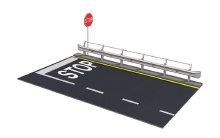 1:24 Scale Guard Rail & Road Section For Display - 03864