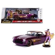 1:24 Scale 1957 Chevrolet Corvette Purple w/Batgirl Figure - 30457