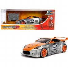 1:24 Scale 2003 Nissan 350Z #20 Raw Metal & Orange Option D - 31071