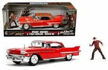 1:24 Scale 1958 Cadillac Series 62 Red w/Freddy Krueger Figure - 31102