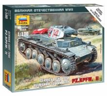 1:100 Scale German Light Tank PZ.KPFW. II Snap Fit - 6102