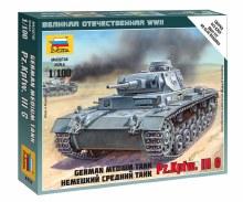 1:100 Scale German Medium Tank PZ.Kpfw. III G Snap Fit - 6119