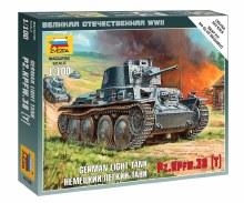 1:100 Scale German Light Tank PZ.KPFW.38 (T) Snap Fit - 6130