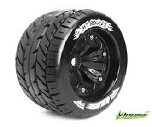 MT-Rocket Tyre On Black Rim 0 Offset - LT3201BB