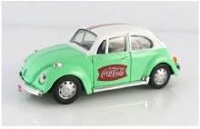 1:43 Scale Coca-Cola 1966 VW Beetle, Green/White - 440031