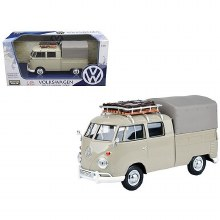 1:24 Scale Volkswagen Type 2 (T1) Pickup With Roof Rack/Suitcase/Tarp - 79553