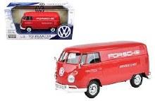 1:24 Scale Volkswagen Type 2 (T1) Delivery Van w/Porsche Logo - MX79557