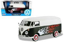 1:24 Scale Volkswagen Type 2 (T1) Delivery Van w/Flames - MX79566