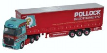 1:148 Scale Mercedes Actros Curtainside Pollock - NMB002