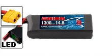 1300mAH 4S 14.8v 75C w/XT60 Plug - ORI60244