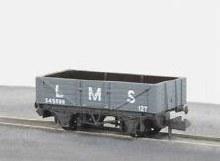 N Gauge 5 Plank Mineral Wagon LMS Light Grey - NR40M