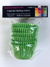 Baking Liners Light Green Pk100