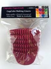 Baking Liners Maroon Pk100