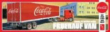 "1:25 Scale Fruehauf Beaded Van Semi Trailer ""Coca-Cola"" - AMT1109"