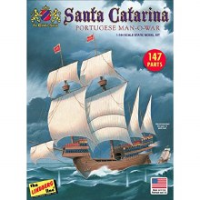 1:244 Scale Santa Catarina Sailing Ship - LIN0HL202