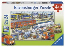 Busy Train Station 2 x 24pc - RB09191