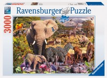 African Animal World 3000pcs - 17037-1