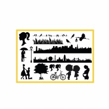 Cake Wedding & City Elements Silicone Mat