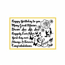 Cake Calligraphy Celebration Silicone Mat