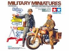 1:35 Scale German Motorcycle Orderly Set - 35241
