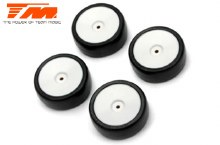24mm Mounted Rubber Tyre White Dish Wheel - TM503285