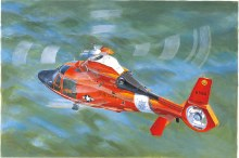 1:35 Scale US Coast Guard HH-65C Dolphin Helicopter - 05107