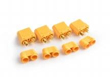 XT-90 Connectors Female Bullet/Male Housing (4pcs) - 0105BF