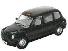 1:43 Scale TX4 Taxi Black - TX4001