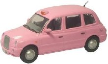 1:43 Scale TX4 Taxi Pink - TX4005