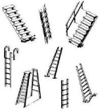 Central Valley HO Gauge Steps & Ladders - 210-1602