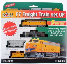 N Gauge F7 Freight Train Set UP 5 Car Set - 1066272